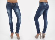 Pretty women in tight jeans Royalty Free Stock Photography