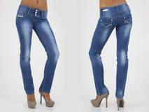 Pretty women in tight jeans Stock Photos