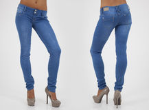 Pretty women in tight jeans Royalty Free Stock Image