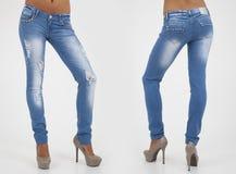 Pretty women in tight jeans Stock Image
