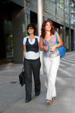 Pretty women walking Stock Photo