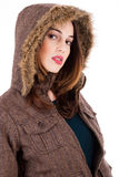 Pretty women with winter jacket Stock Photo