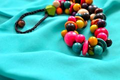 Pretty wooden beads 1 Stock Image