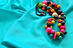 Pretty wooden beads 2 stock photography