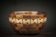 Pretty Wooden Pottery royalty free stock images