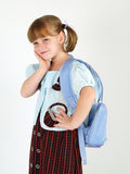 Pretty worried school girl Royalty Free Stock Image