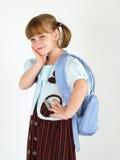 Pretty worried school girl. Pretty school girl  looking worried Royalty Free Stock Image
