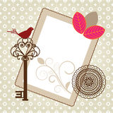 Pretty writing paper frame Stock Image
