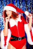 Pretty xmas girl Royalty Free Stock Images