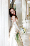 Pretty young adult bride Stock Photography