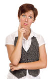 Pretty Young Adult Female with Funny Expression Stock Photography