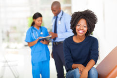 African woman examination Royalty Free Stock Image