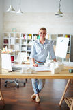 Pretty young architect Stock Photos