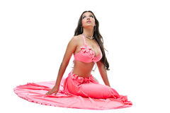 Pretty young asian dancer - fresh rose costume Royalty Free Stock Images