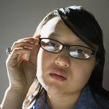 Pretty young Asian woman. Stock Photo