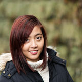 Pretty young Asian woman in winter fashion Stock Image