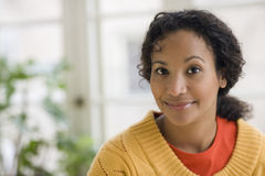 Pretty young black woman royalty free stock image