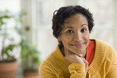 Pretty young black woman Royalty Free Stock Images
