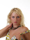 Pretty young blond teen sensual portrait Royalty Free Stock Photography