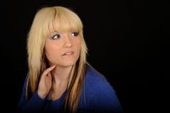 Pretty young blond woman Stock Photography