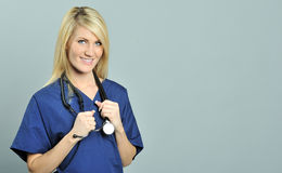 Pretty young blonde healthcare professional Royalty Free Stock Photography