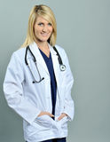 Pretty young blonde healthcare professional Royalty Free Stock Photo