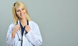 Pretty young blonde healthcare professional Stock Photo