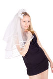 Pretty young bride Stock Photography