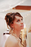 Pretty young bride. Royalty Free Stock Photos