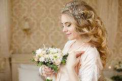 Free Pretty Young Bride`s Wedding Morning Stock Images - 91832924