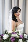 Pretty young bride Stock Photo