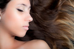 Pretty Young Brunette Stock Photography