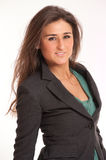 Pretty young brunette in a blazer Stock Photos