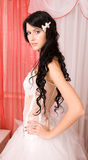 Pretty young brunette bride Royalty Free Stock Image