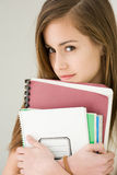 Pretty young brunette student girl. Stock Photography
