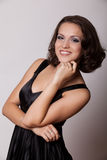 Pretty Young Brunette Woman With Makeup Smoky Eyes Royalty Free Stock Images