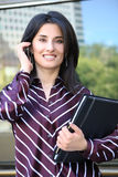 Pretty Young Business Woman Royalty Free Stock Photography