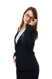 Pretty young business woman Royalty Free Stock Photos