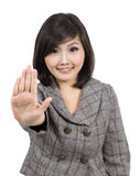 Pretty young business woman gesturing Royalty Free Stock Photography
