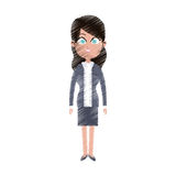 Pretty young business woman icon image Royalty Free Stock Images