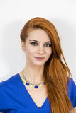 Pretty young business woman royalty free stock photo