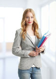 Pretty young business woman Stock Photo