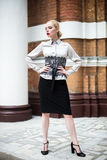 Pretty young business woman wearing formal clothes Stock Photography