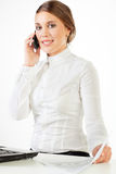 Pretty young businesswoman Stock Images