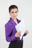 Pretty young businesswoman Stock Photos