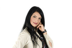 Pretty young businesswoman Stock Photography