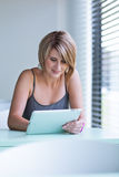 Pretty, young businesswoman/college student Stock Images