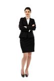 Pretty young businesswoman in full length pose Royalty Free Stock Images
