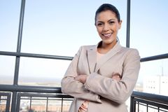 Pretty Young Businesswoman Smiling Royalty Free Stock Photo