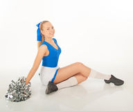 Pretty young cheerleader Stock Photography
